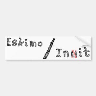 Eskimo Inuit Init Bumper Sticker