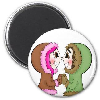 eskimo kisses 2 inch round magnet