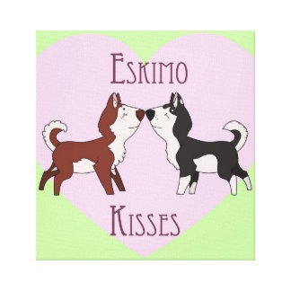 Eskimo Kisses Stretch Canvas