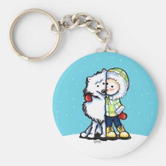 Eskimo Kisses Winter Basic Round Button Keychain