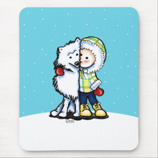 Eskimo Kisses Winter Mouse Pads