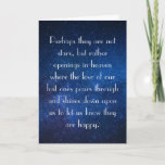 Eskimo Proverb, Loss of Loved One Sympathy Card