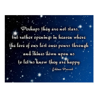 Eskimo proverb - stars postcard