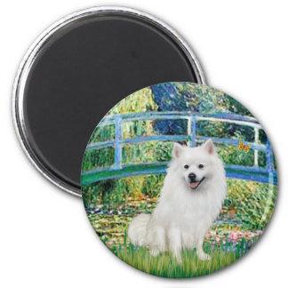 Eskimo Spitz 1 - Bridge 2 Inch Round Magnet
