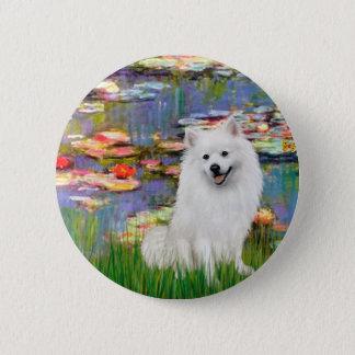 Eskimo Spitz 1 - Lilies 2 Button