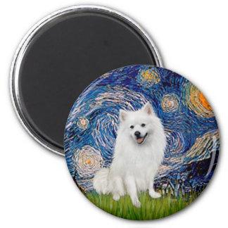 Eskimo Spitz 1 - Starry Night Magnet