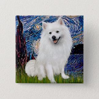 Eskimo Spitz 1 - Starry Night (Vert) Button