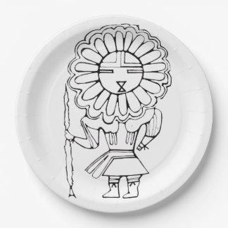Eskimo Sun God party plate. Paper Plate