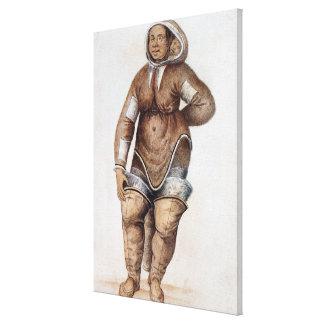 Eskimo  Woman and Baby Canvas Print