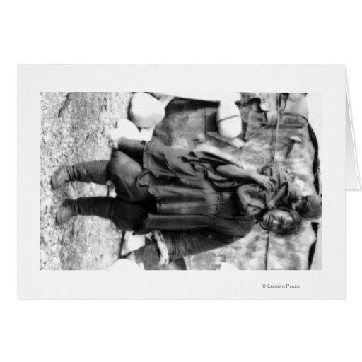 Eskimo Woman and Child In Alaska Photograph Card