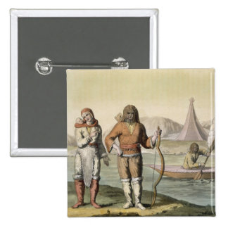 Eskimos at Hudson Bay, from 'Le Costume Ancien et Buttons