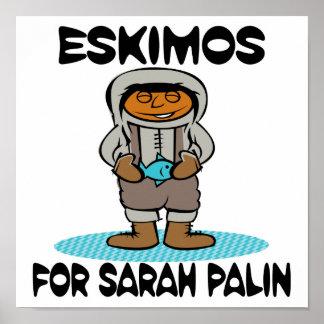 Eskimos for Sarah Palin Posters