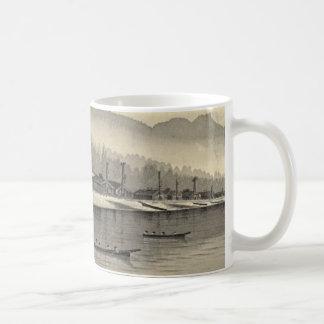 Eskimos Halibut Fishing Alaska 1874 Coffee Mug