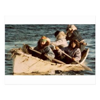 Eskimos Hunting Postcard