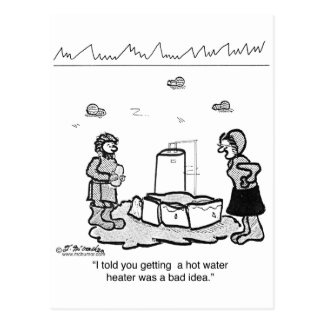 Eskimos Should Not Have a Hot Water Heater Install Postcard