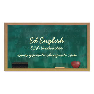 ESL Instructor Double-Sided Standard Business Cards (Pack Of 100)