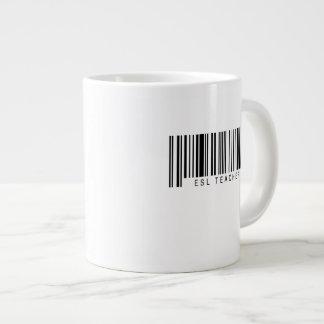 ESL Teacher Barcode Giant Coffee Mug