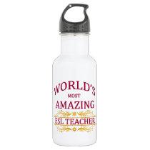 ESL Teacher Stainless Steel Water Bottle