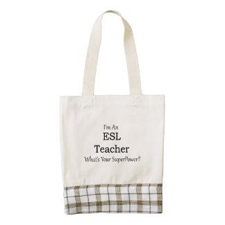 ESL Teacher Zazzle HEART Tote Bag
