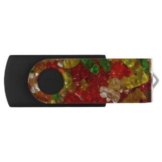 Eslabón giratorio gomoso del oso 32GB flashdrive Pen Drive Giratorio USB 2.0