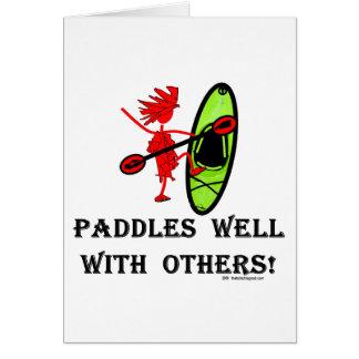 Eslalom de la canoa - paletas bien con otras tarjeta de felicitación