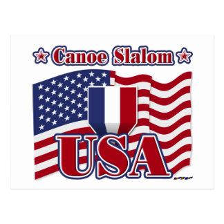 Eslalom los E.E.U.U. de la canoa Postales