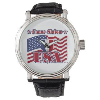 Eslalom los E.E.U.U. de la canoa Relojes De Pulsera