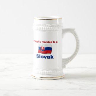 Eslovaco feliz casada tazas