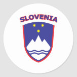 Eslovenia Etiquetas Redondas