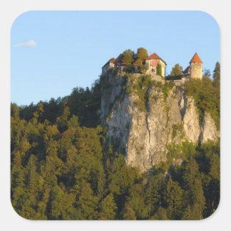 Eslovenia, sangrada, lago sangrado, castillo pegatina cuadradas