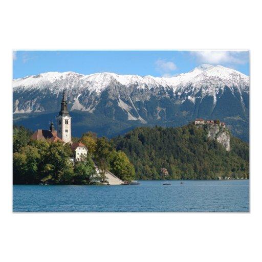 Eslovenia, sangrada, lago sangrado, isla sangrada, fotografía