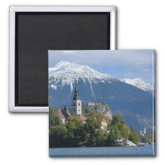 Eslovenia, sangrada, lago sangrado, isla sangrada, imán cuadrado