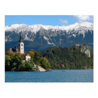 Eslovenia, sangrada, lago sangrado, isla sangrada, postal