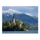 Eslovenia, sangrada, lago sangrado, isla sangrada, tarjetas postales