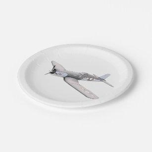 ESM F-4U Corsair airplane Paper Plate  sc 1 st  Zazzle & Vintage Plane Plates | Zazzle