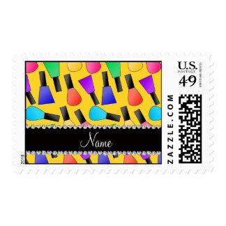 Esmalte de uñas amarillo conocido personalizado sello
