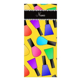 Esmalte de uñas amarillo conocido personalizado lona