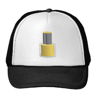 Esmalte de uñas amarillo gorras