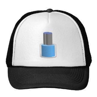 Esmalte de uñas azul gorras