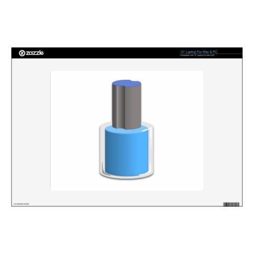 Esmalte de uñas azul skins para 30,5cm portátiles