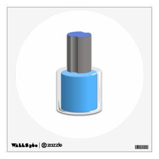 Esmalte de uñas azul vinilo adhesivo