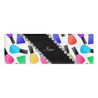 Esmalte de uñas blanco conocido personalizado del chapa identificatoria