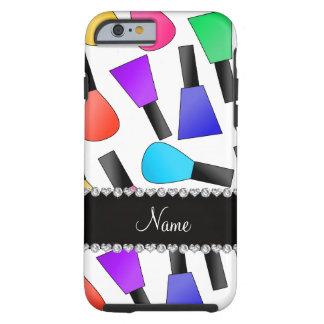 Esmalte de uñas blanco conocido personalizado del funda de iPhone 6 tough