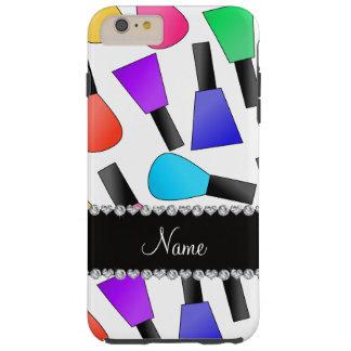 Esmalte de uñas blanco conocido personalizado del funda resistente iPhone 6 plus