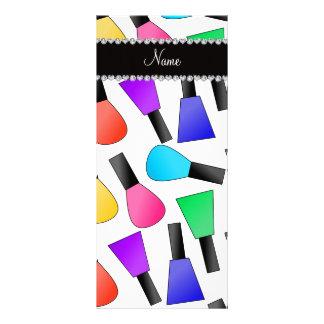 Esmalte de uñas blanco conocido personalizado del tarjetas publicitarias a todo color