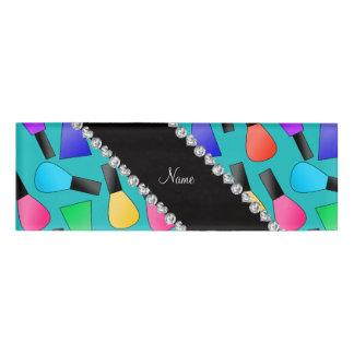 Esmalte de uñas conocido personalizado del arco chapa identificatoria