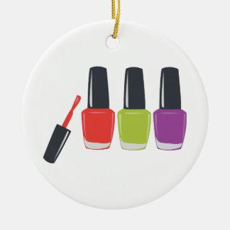 Esmalte de uñas adorno redondo de cerámica