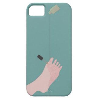 Esmalte de uñas funda para iPhone 5 barely there