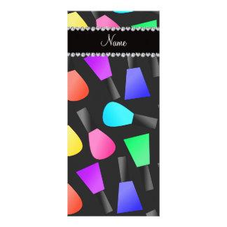 Esmalte de uñas negro conocido personalizado del lona publicitaria
