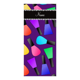 Esmalte de uñas púrpura conocido personalizado del tarjetas publicitarias